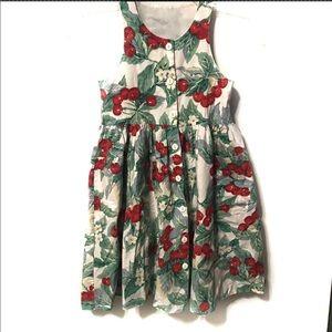 Hartstrings Boutique Girls Cherry Dress 6X